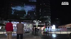 Unicredit Tower si illumina per finale Champions