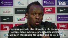 Doping Mosca: Bolt, bando spaventera' molta gente