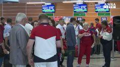 Olimpiadi, partono gli atleti russi