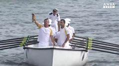 Rio 2016: torcia olimpica arriva in barca