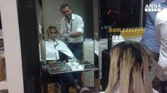 Rio, Rossella Fiamingo festeggia dal parrucchiere