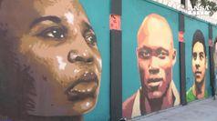 Rio, un murales per team rifugiati
