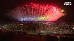 Paralimpiadi, spettacolo di fuochi al Maracana'