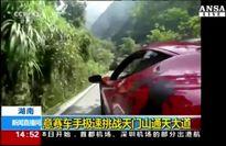 E' record in Cina per Fabio Barone su strada piu' pericolosa del mondo