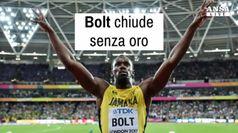Bolt chiude senza oro