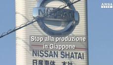 Nissan, stop alla produzione in Giappone