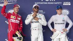 F1: Hamilton in pole, Vettel secondo