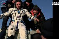 Paolo Nespoli esce dalla Soyuz