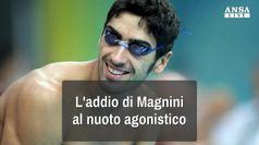 L'addio di Magnini al nuoto agonistico