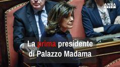 La prima presidente di Palazzo Madama