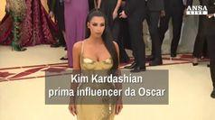 Kim Kardashian, prima influencer da Oscar