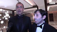 Garrone: doppia emozione premio da Benigni