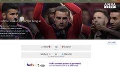 Finale di Europa League tra Atletico Madrid-Marsiglia