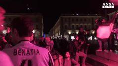 Juve, tifosi tornano in piazza San Carlo