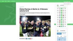 Calcio: 2-0 allo Spezia, il Parma torna serie B