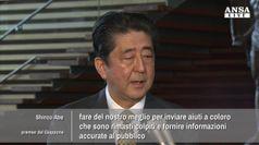 Abe: stiamo inviando aiuti a persone colpite dal sisma