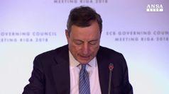 Dragi: addio al QE, sull'Italia 'Niente drammi'