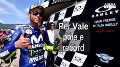 Record e pole per Valentino Rossi