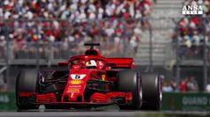 Pole per la Ferrari di Vettel in Canada, quarto Hamilton