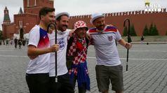 Croazia-Inghilterra, i tifosi colorano Mosca