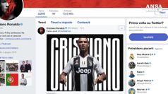 CR7, primo tweet da bianconero: 'Forza Juve, fino alla fine'