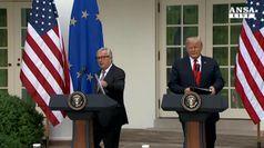 Tregua Trump-Juncker, accordo sui dazi