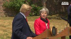 Monito Trump a Gb, sull'Iran state con noi e non con Ue