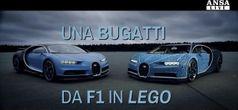 Una Bugatti da F1 in mattoncini