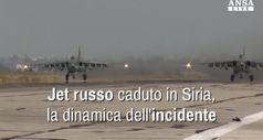 Jet russo caduto in Siria, la dinamica dell'incidente