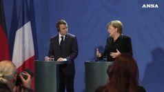Macron-Merkel,asse per Ue forte contro deriva mondo
