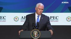 Usa-Cina, Pence avverte Pechino