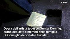 A Roma rubate 20 pietre d'inciampo dedicate a vittime Shoah