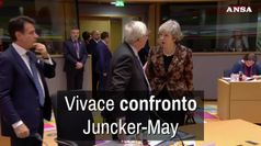 Vivace confronto Juncker-May