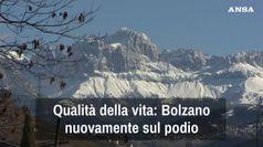 Qualita' vita, Bolzano di nuovo sul podio