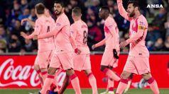 Liga: Barca vince a Getafe e allunga, Atletico a -5