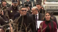 Frode fiscale, CR7 arriva in tribunale Madrid