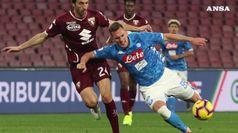 Il Toro ferma il Napoli, l'Inter supera la Samp