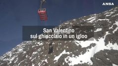 San Valentino in un igloo sul ghiacciaio