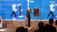 Ecco Ugo, nuovo robot domestico stende e piega panni lavati