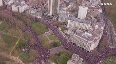 Marcia di protesta anti-Brexit a Londra