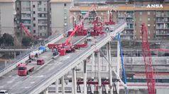Ponte Genova: iniziano operazioni per smontaggio pila 5