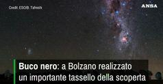 Buco nero: a Bolzano realizzato un importante tassello della scoperta