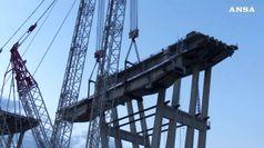 Ponte Genova: concluso calo prima porzione impalcato pila 5