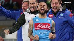 Napoli-Cagliari 2-1, e' qualifica Champions