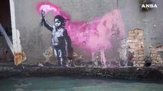 A Venezia spunta 'Naufrago bambino' potrebbe essere di Banksy