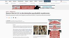 Denver prima citta' che depenalizzera' funghi allucinogeni