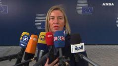 Mogherini chiede a Sarraj immediato cessate il fuoco