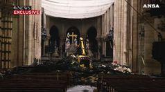 Notre-Dame, le condizioni della Cattedrale dall'interno