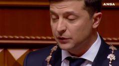 Zelensky ha giurato, e' il nuovo presidente ucraino