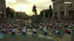 Roma, lezioni di yoga in Campidoglio